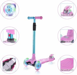 WonderView Kick Scooter for Kids 3 Wheel Scooter